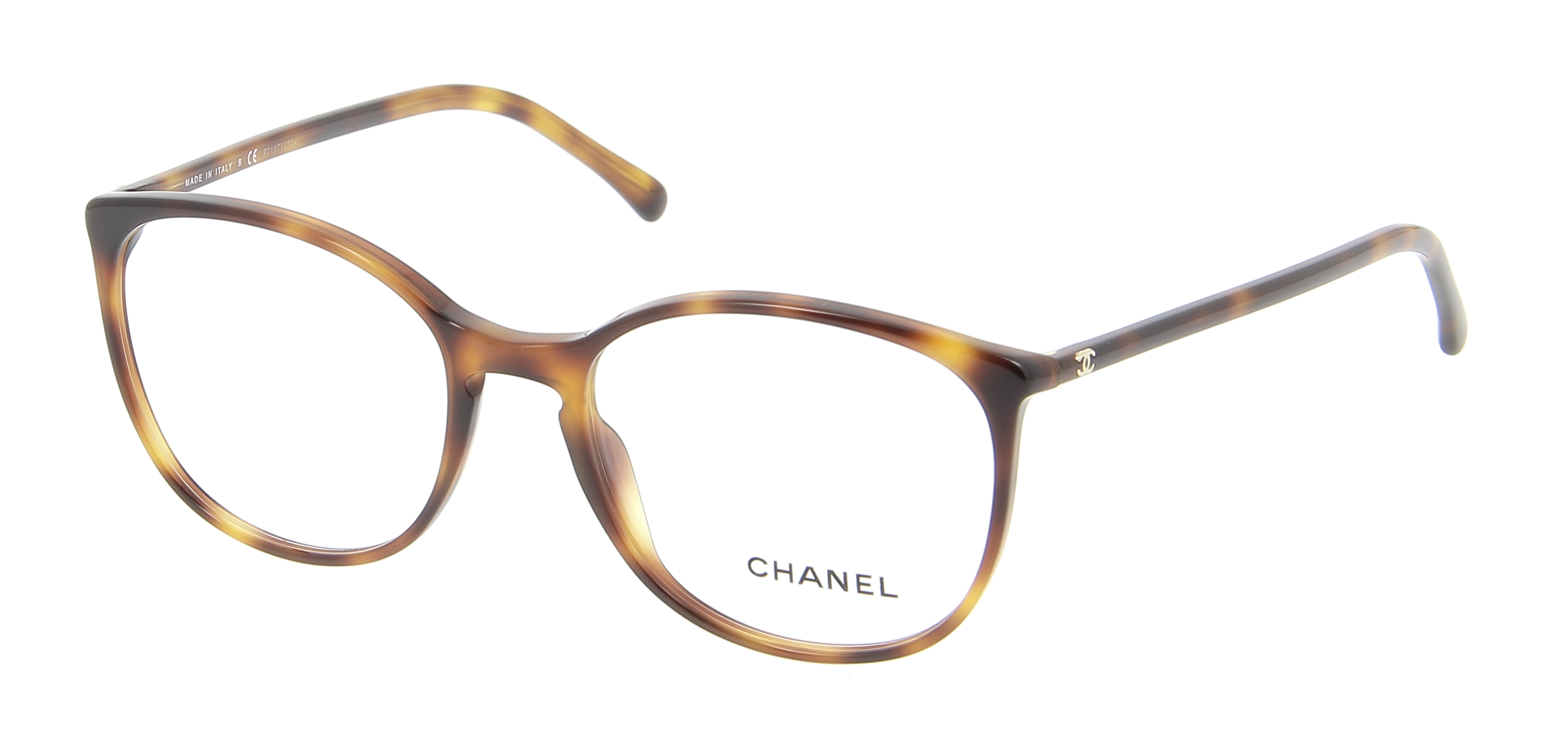 Chanel Glasses Frame Malaysia : Eyeglasses CHANEL CH 3282 1295 52/18 Woman Ecaille Round ...