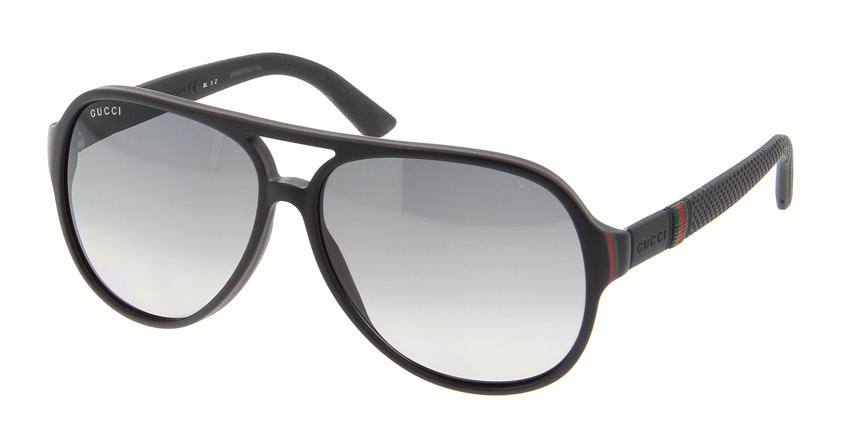 Gucci Full Frame Glasses : Sunglasses GUCCI GG 1065/S 4UP 59/13 Man noir Aviator ...