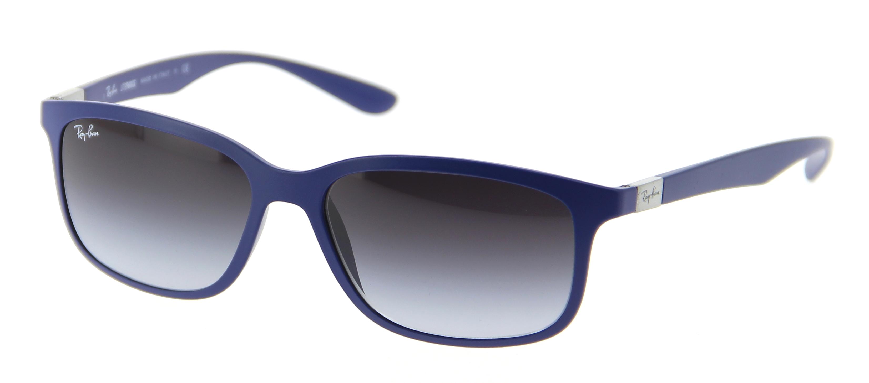Lunettes de soleil RAY-BAN RB 4215 61618G 57 16 Mixte Bleu mat Rectangle c69836cd29c8
