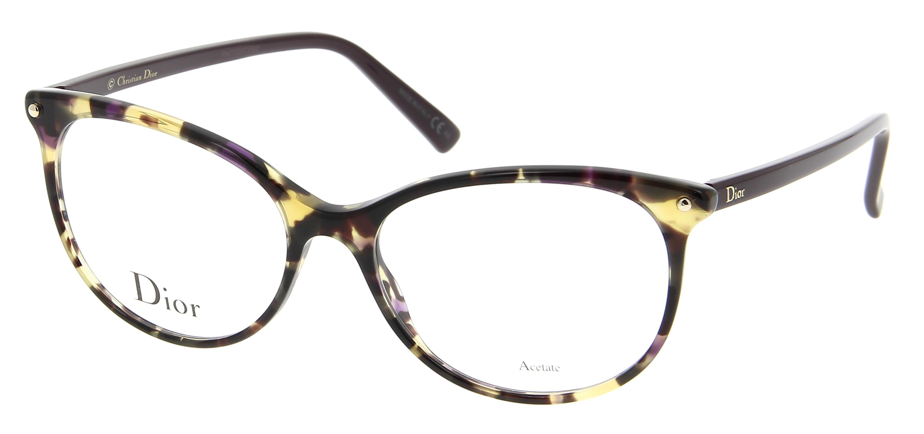 lunettes de vue dior cd 3284 lbv 53 16 femme ecaille violet fonc papillon cercl e tendance. Black Bedroom Furniture Sets. Home Design Ideas