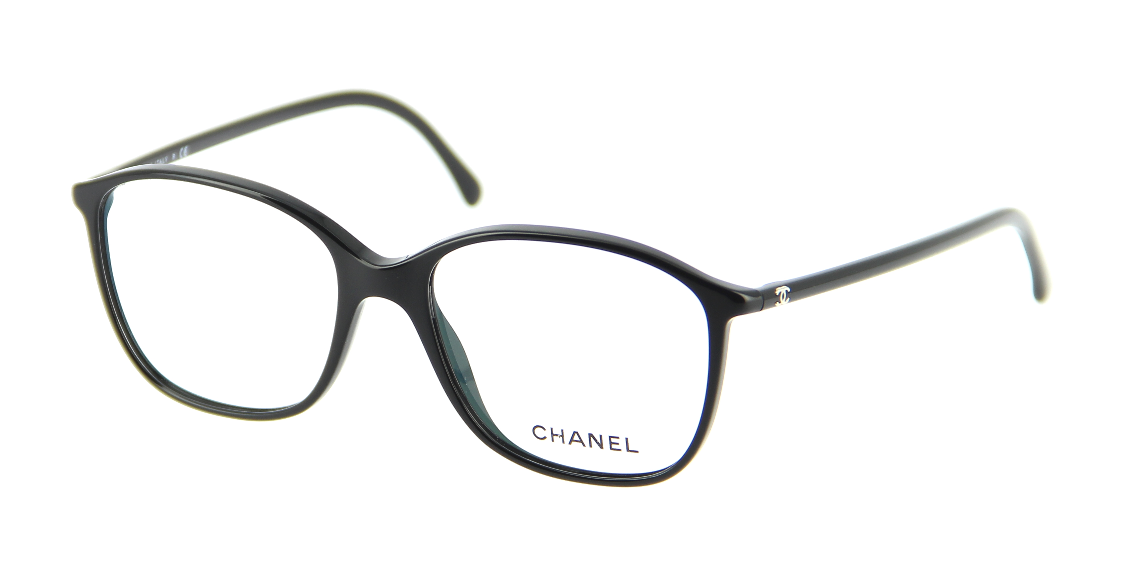 Eyeglasses CHANEL CH 3219 C501 52/16 Woman Noir square ...