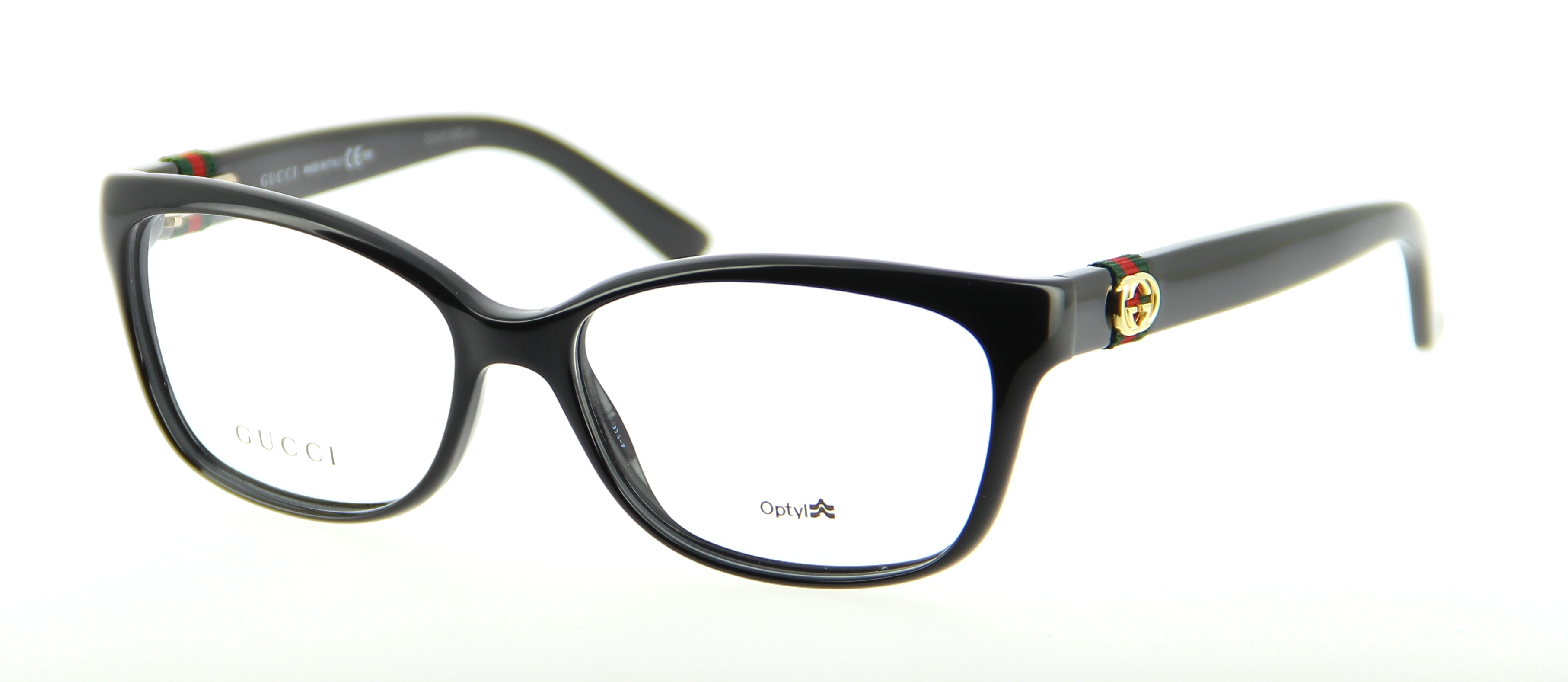 Gucci Full Frame Glasses : Eyeglasses GUCCI GG 3683 D28 53/15 Woman Noir Oval frames ...