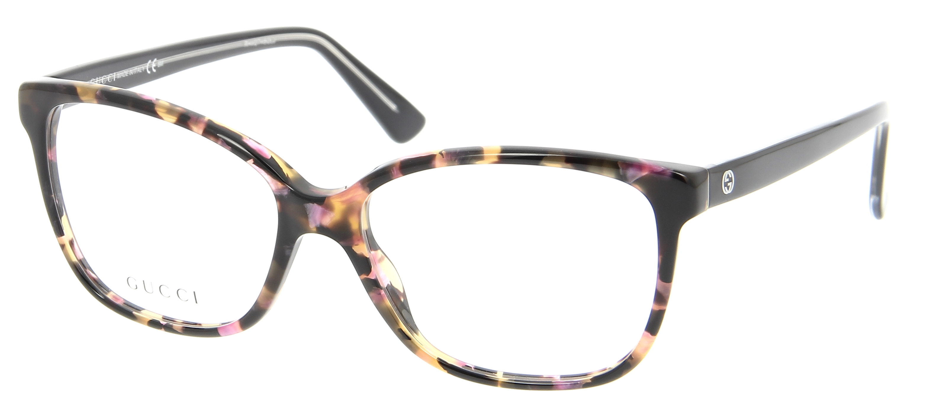 lunettes de vue gucci gg 3724 hpa 53 15 femme ecaille rose arrondie cercl e tendance 53mmx15mm. Black Bedroom Furniture Sets. Home Design Ideas