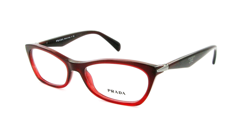 lunettes de vue prada pr 15pv max101 55 16 femme noir rouge ovale cercl e tendance 55mmx16mm 151. Black Bedroom Furniture Sets. Home Design Ideas