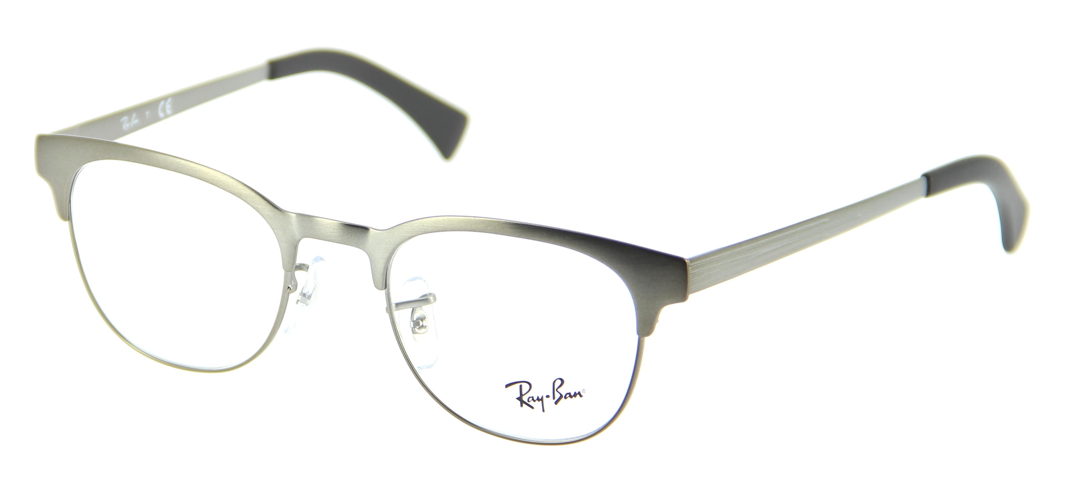 lunettes de vue ray ban rx 6317 2834 49 20 homme noir mat argent arrondie cercl e classique. Black Bedroom Furniture Sets. Home Design Ideas