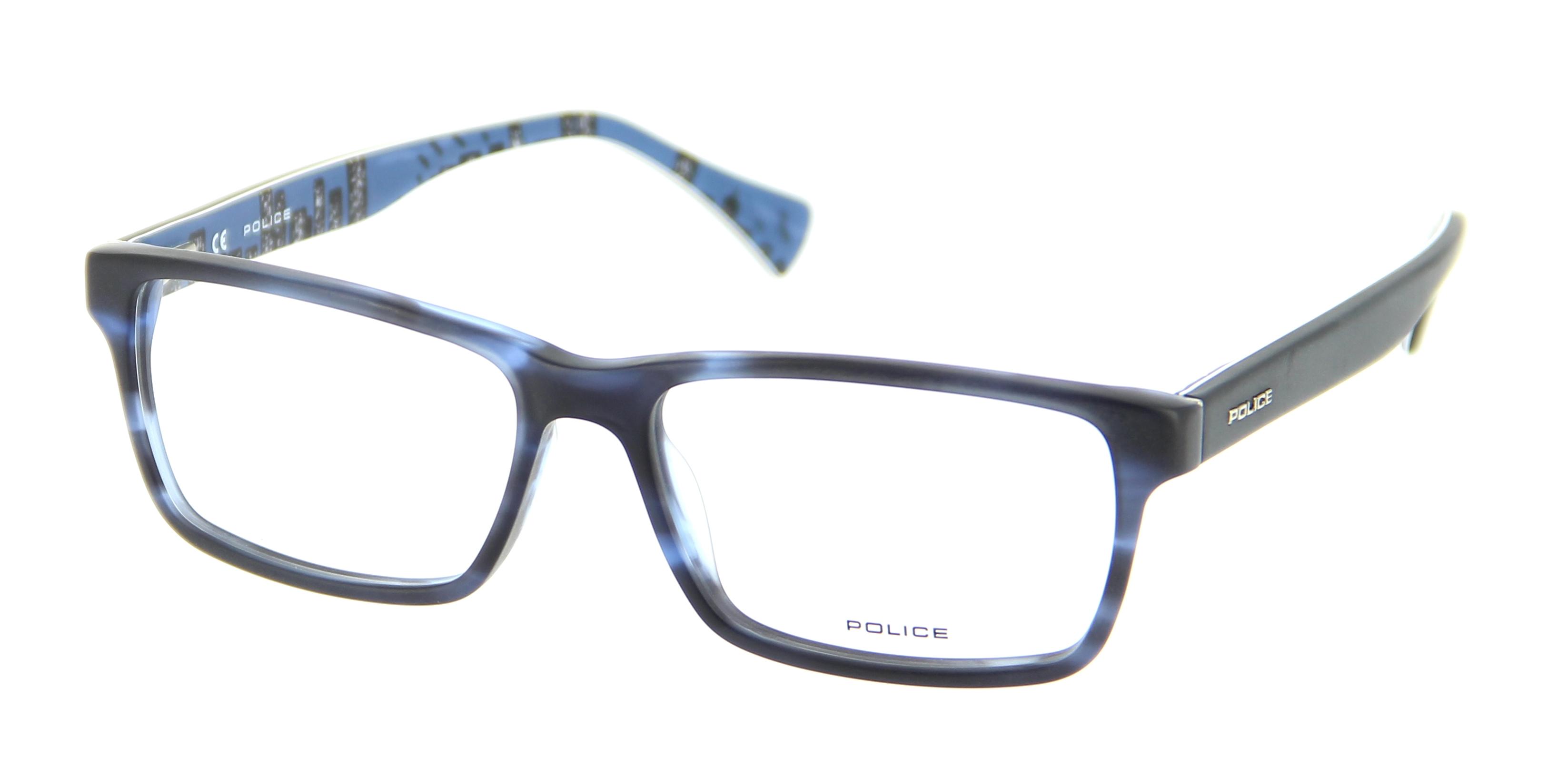 lunettes de vue police v1865 m00m 55 16 homme bleu mat ray int building bleu rectangle. Black Bedroom Furniture Sets. Home Design Ideas