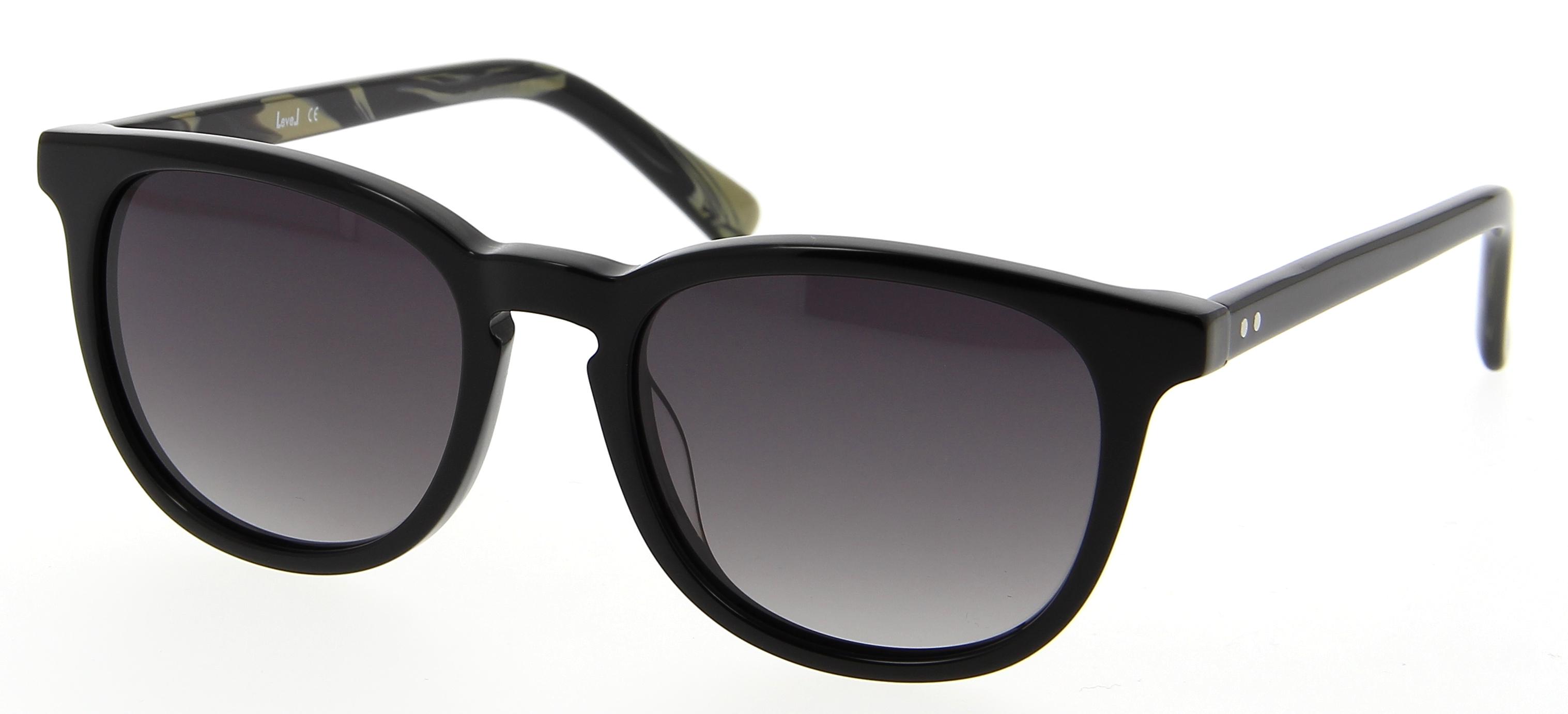 lunettes de soleil level le s1613 noir 51 18 femme noir arrondie cercl e vintage 51mmx18mm 71. Black Bedroom Furniture Sets. Home Design Ideas