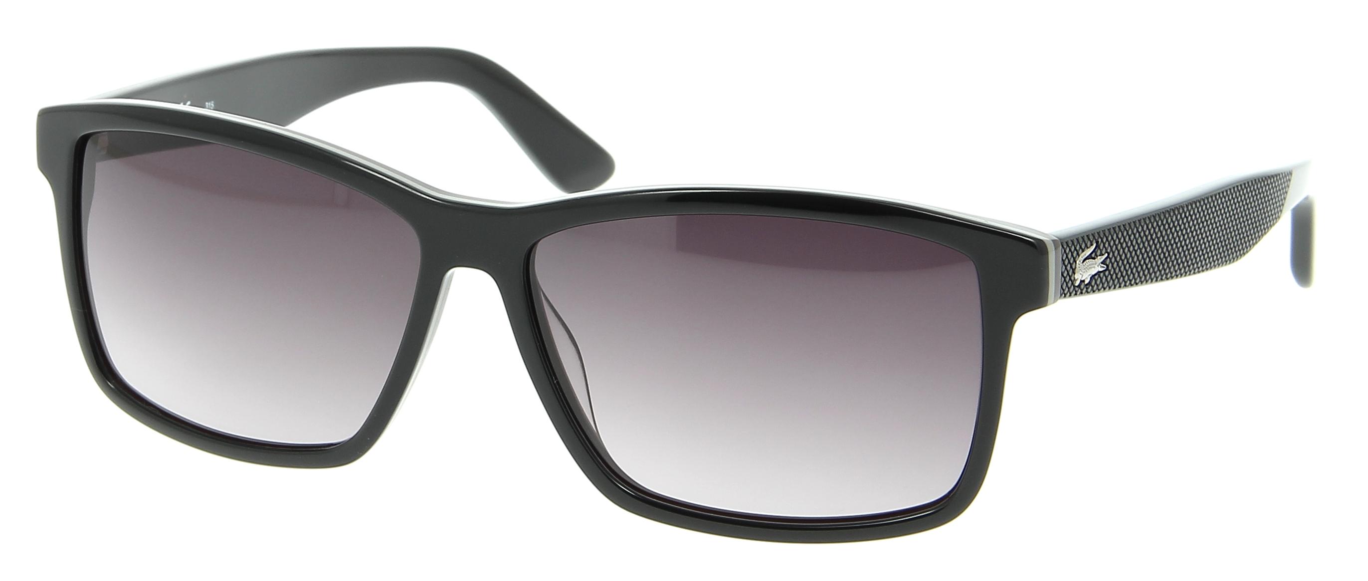 lunettes de soleil lacoste l 705s 001 57 13 mixte noir rectangle cercl e classique 57mmx13mm 105. Black Bedroom Furniture Sets. Home Design Ideas