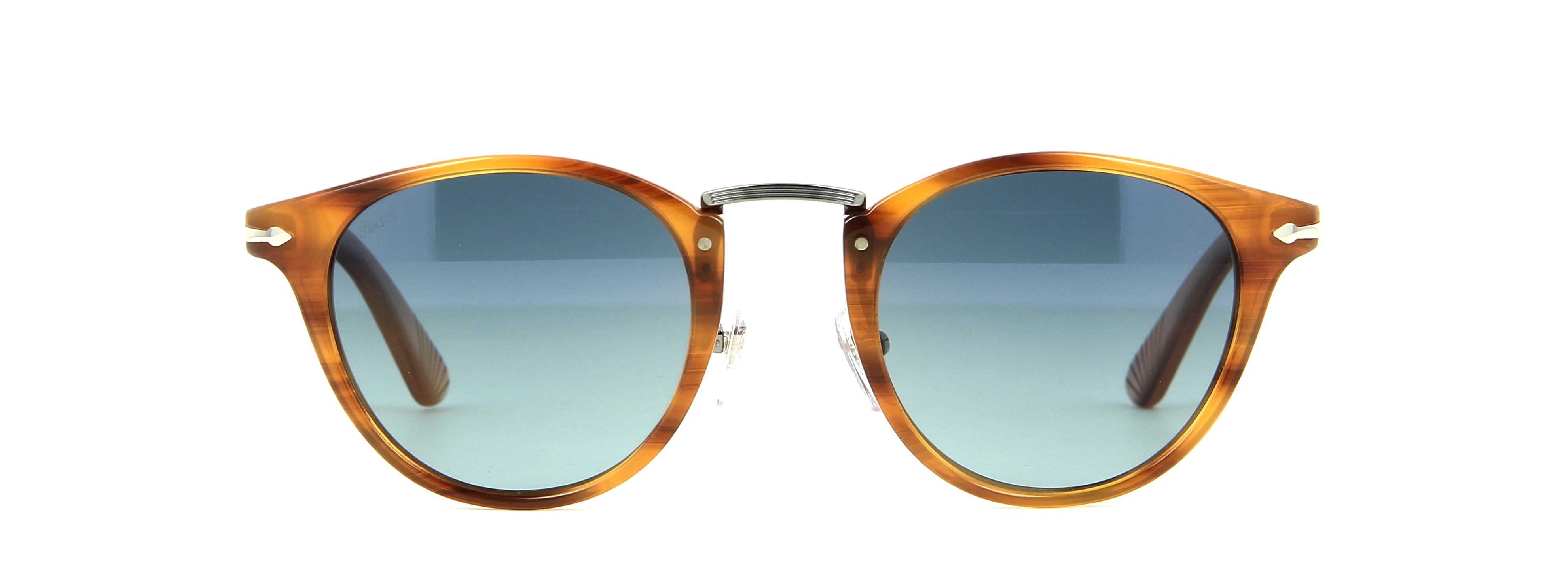 lunettes de soleil persol po 3108s 960 s3 49 22 homme marron ray arrondie cercl e tendance. Black Bedroom Furniture Sets. Home Design Ideas