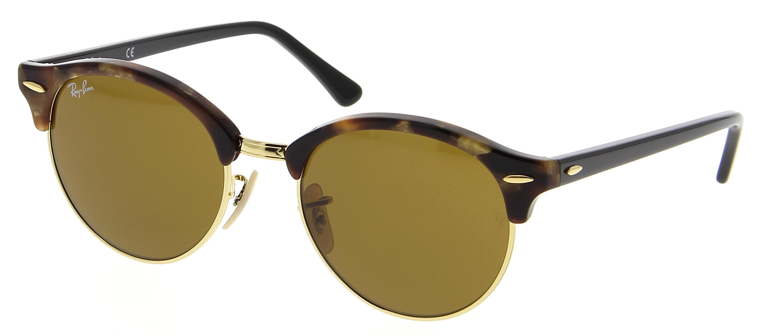 lunettes de soleil ray ban rb 4246 1160 clubround 51 19 mixte ecaille arrondie cercl e vintage. Black Bedroom Furniture Sets. Home Design Ideas