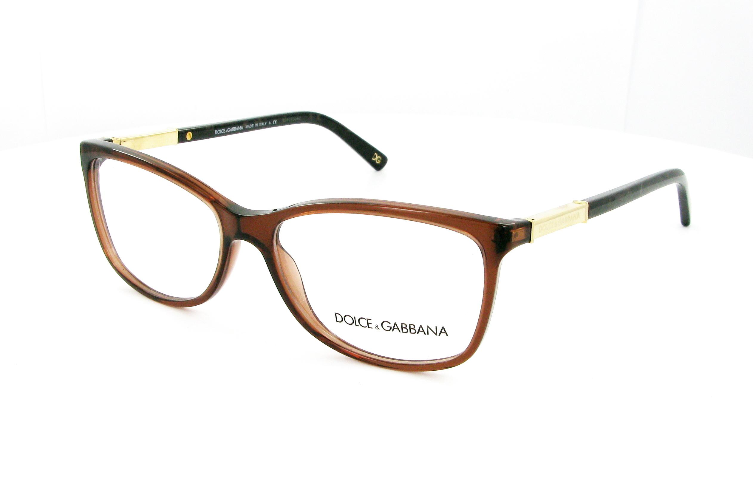 lunettes de vue dolce gabbana dg 3107 2542 54 15 femme marron transparent rectangle cercl e. Black Bedroom Furniture Sets. Home Design Ideas