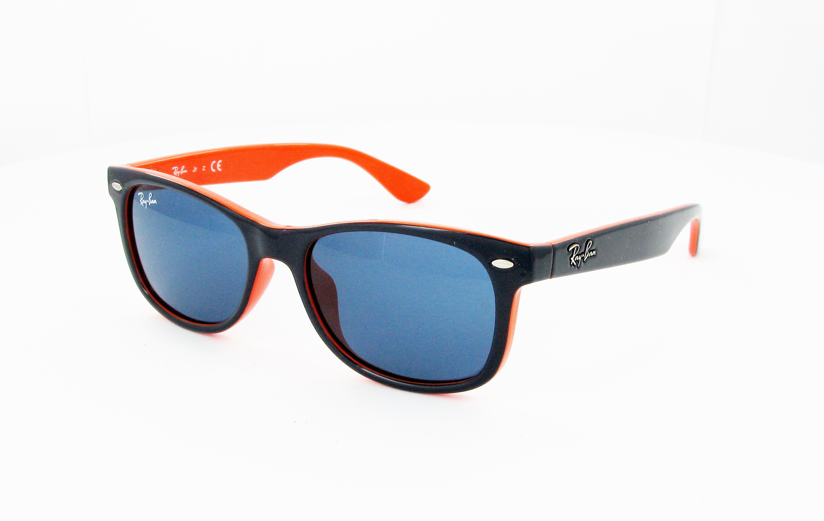 lunettes de soleil ray ban junior rj 9052s 178 80 47 15 enfant bleu orange vintage cercl e. Black Bedroom Furniture Sets. Home Design Ideas