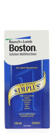 Contact lenses easy-care-solutions BAUSCH & LOMB BOSTON SIMPLUS 120 ml
